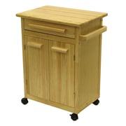 Winsome Kitchen – Chariot de cuisine avec un tiroir, une armoire, naturel