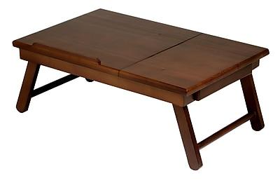 Winsome Alden Lap Desk Flip Top with Drawer Foldable Legs