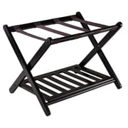 Winsome Reese Luggage Rack with shelf, Espresso