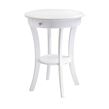 Winsome – Table d'appoint Sasha ronde, blanc