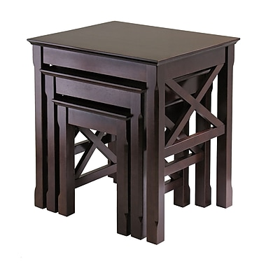 Winsome Xola 3-piece Nesting Table, Cappuccino