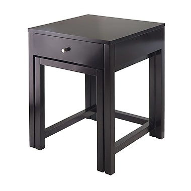 Winsome Copenhagen 2-pc Nesting Table Set With Glass Top, Espresso