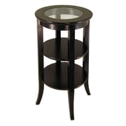 Winsome – Table Genoa, insertion en verre, espresso