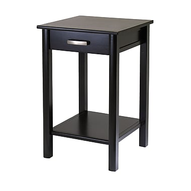 Winsome Liso End Table/Printer Table With Drawer/Shelf, Espresso