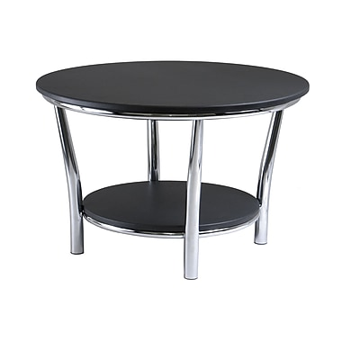 Winsome Maya Table Collection, Metal Legs, Black