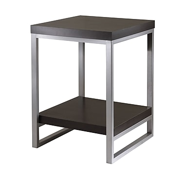 Winsome Jared End Table, Enamel Steel Tube, Espresso