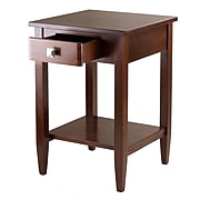 """Winsome Richmond 25.98"""" x 17.95"""" x 18.68"""" Wood End Table Tapered Leg, Antique Walnut"""