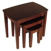 Winsome – Tables gigognes, ensemble de 3 tables, noyer antique