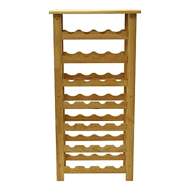Winsome 28-Bottle Wine Rack, Natural