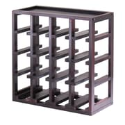 Winsome Kingston Stackable Slot Cube, 16-Bottle Wine Cube, Espresso