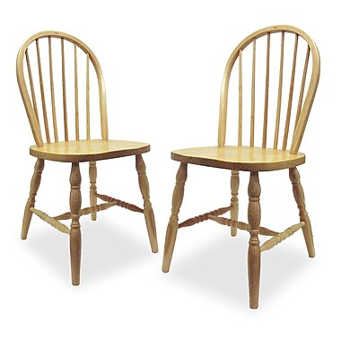 Winsome Windsor Wood Chairs, Natural, 2/Pack