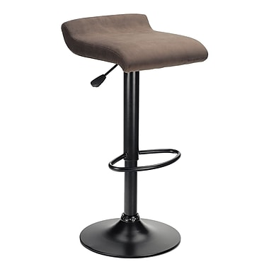 Winsome Marni Air Lift Stool with Micro Fiber Seat Top, Black/Charcoal