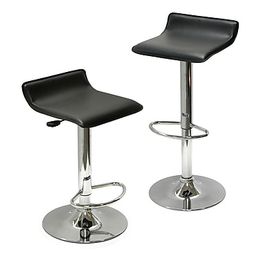 Winsome Spectrum Adjustable Air Lift Stools, Black, 2/Pack