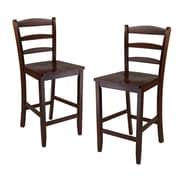 Winsome – Chaise bistro à dossier en échelle, 24 po, bois de noyer antique, 2/carton