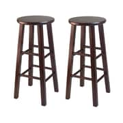 "Winsome 29"" Bar Stools with Square Legs, 2/Pack"