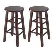"Winsome 24"" Counter Stools with Square Legs, 2/Pack"