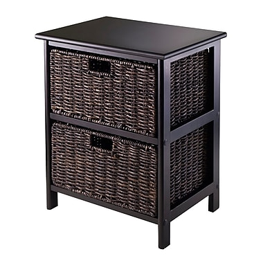Winsome Omaha Storage Rack with 2 Foldable Baskets, Black
