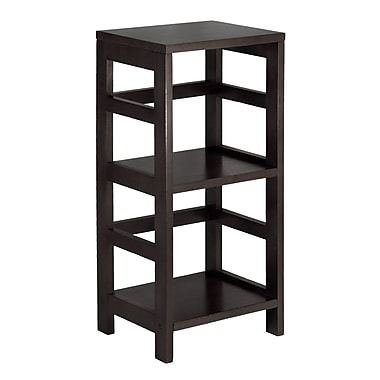 Winsome Leo Shelf / Storage, Book, 2-Tier, Narrow, Espresso