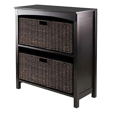 Winsome 3-Tier Shelf with Baskets, Espresso