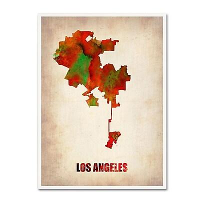 Trademark Fine Art 'Los Angeles Watercolor Map' 24