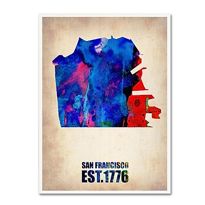 Trademark Fine Art 'San Francisco Watercolor Map' 14