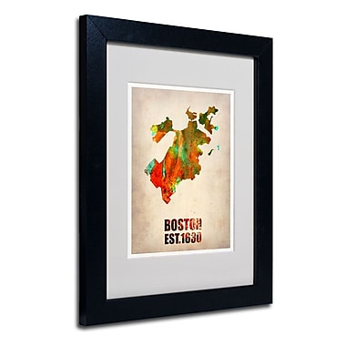 Trademark Fine Art 'Boston Watercolor Map'