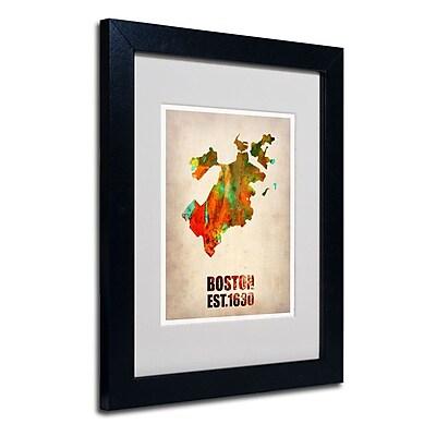 Trademark Fine Art 'Boston Watercolor Map' 11