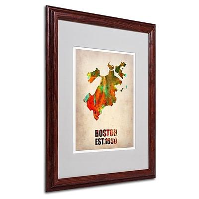 Trademark Fine Art 'Boston Watercolor Map' 16