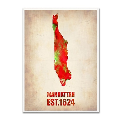Trademark Fine Art 'Manhattan Watercolor Map' 14