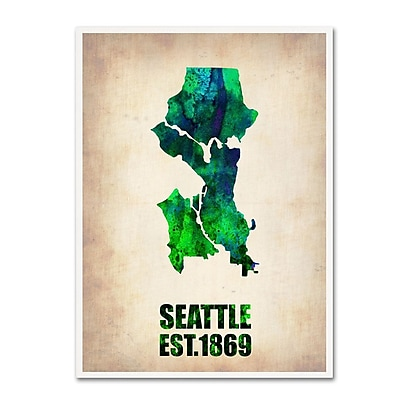 Trademark Fine Art 'Seattle Watercolor Map' 18