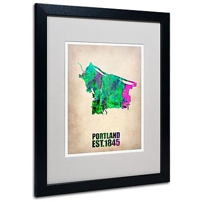 Trademark Fine Art 'Portland Watercolor Map' 16