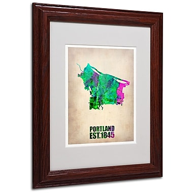 Trademark Fine Art 'Portland Watercolor Map' 11