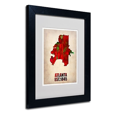 Trademark Fine Art 'Atlanta Watercolor Map' 11