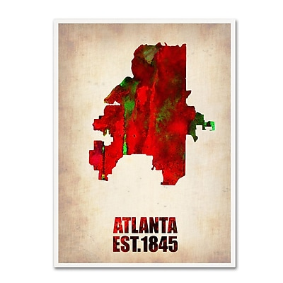 Trademark Fine Art 'Atlanta Watercolor Map' 24