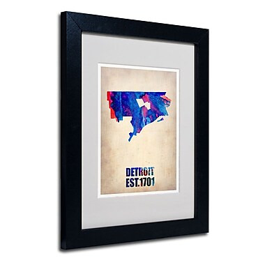 Trademark Fine Art 'Detroit Watercolor Map'