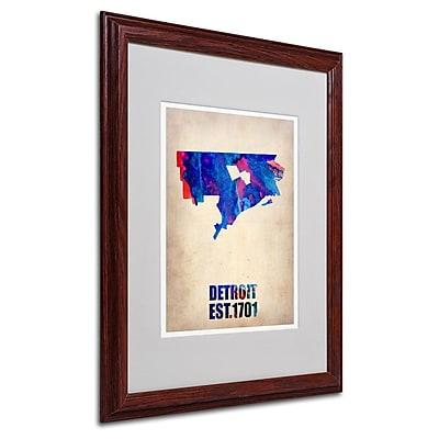 Trademark Fine Art 'Detroit Watercolor Map' 16
