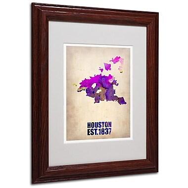 Trademark Fine Art 'Houston Watercolor Map' 11