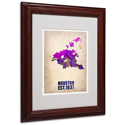 Trademark Fine Art 'Houston Watercolor Map' 11