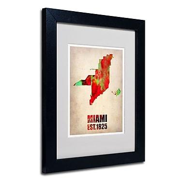 Trademark Fine Art 'Miami Watercolor Map'