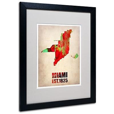 Trademark Fine Art 'Miami Watercolor Map' 16