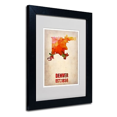 Trademark Fine Art 'Denver Watercolor Map'