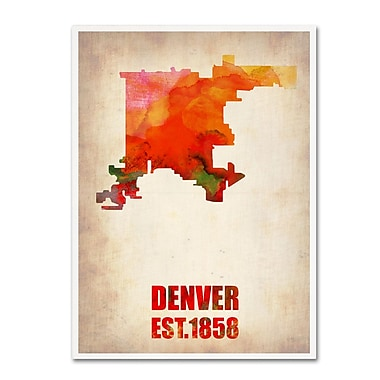 Trademark Fine Art 'Denver Watercolor Map' 18