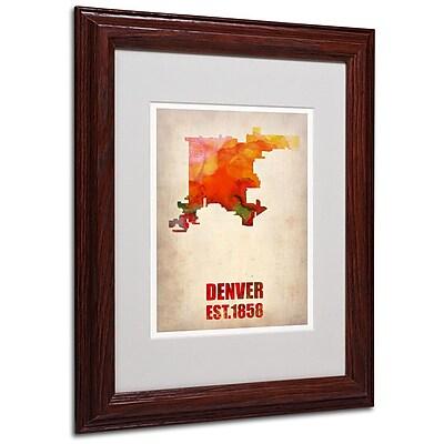 Trademark Fine Art 'Denver Watercolor Map' 11