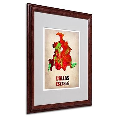 Trademark Fine Art 'Dallas Watercolor Map' 16