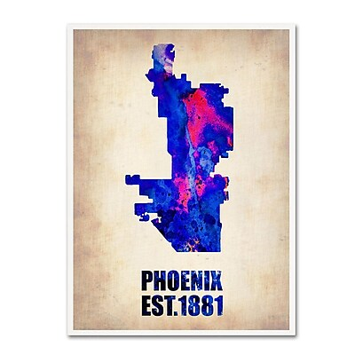 Trademark Fine Art 'Phoenix Watercolor Map' 18