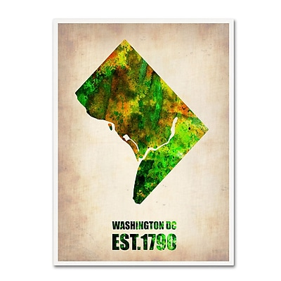 Trademark Fine Art 'Washington D.C. Watercolor Map' 35