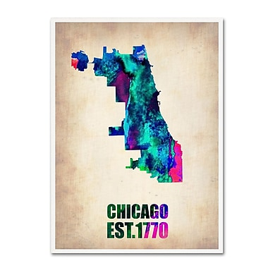 Trademark Fine Art 'Chicago Watercolor Map' 24