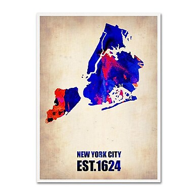 Trademark Fine Art 'New York City Watercolor Map' 24