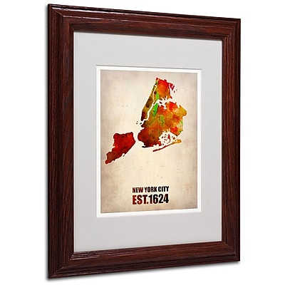Trademark Fine Art 'New York City Watercolor Map 2' 11