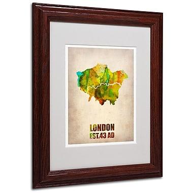 Trademark Fine Art 'London Watercolor Map' 11